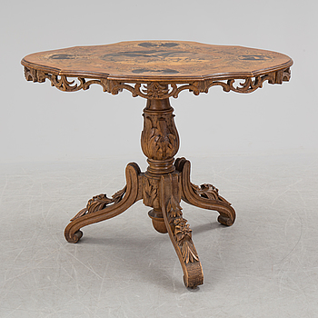 A Neo-Rococo inlay table, late 19th Century.