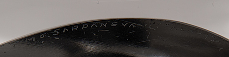 "A ""lancet ii"" 3842 glass sculpture, signed timo sarpaneva, iittala -57."