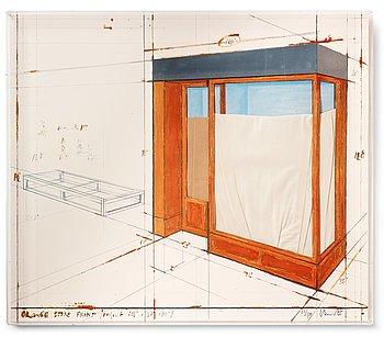 "182. Christo & Jeanne-Claude, ""Orange Store Front, project""."