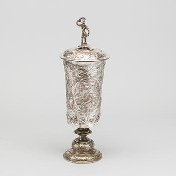 LOCKPOKAL, försilvrad metall. Historismus, 1800-tal.