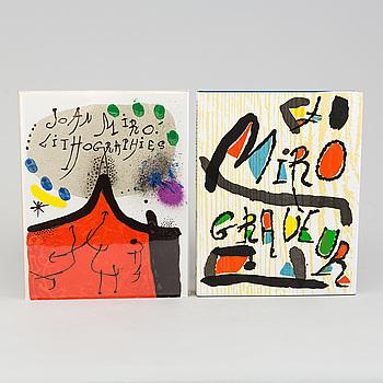 BÖCKER: Joan Miró, Lithographe, 1930-1952 och Miró Radierungen III, 1973-1975, tryckt 1972 och 1991.