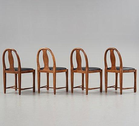Carl bergsten, a sofa and four chairs by nordiska kompaniet, sweden 1915.