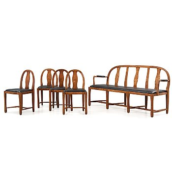 113. CARL BERGSTEN, soffa och fyra stolar, Nordiska Kompaniet 1915.