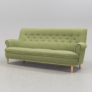 """CARL MALMSTEN, soffa, """"Hemmakväll"""", AB O.H. Sjögren, 1900-talets andra hälft."""