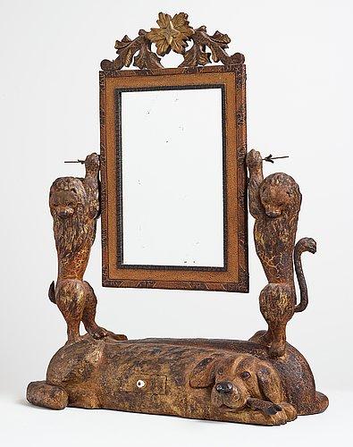 Lim-johan (johan erik olsson), lådspegel, dubbelsidig.