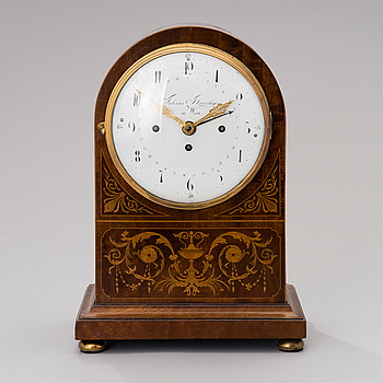 A VIENNA MANTLE CLOCK BY TOBIAS FLASCHGE CA 1800,