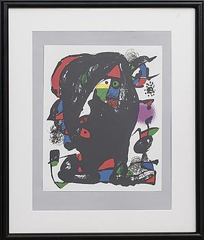 JOAN MIRÓ, färglitografi, ur Miró Lithographe IV.