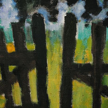 Ragnar sandberg, oil on canvas, unsigned