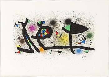 JOAN MIRÓ, färglitografi, signerad i trycket.