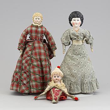 DAMDOCKOR, 2 stycken, troligen Tyskland, 1800-talets andra hälft.