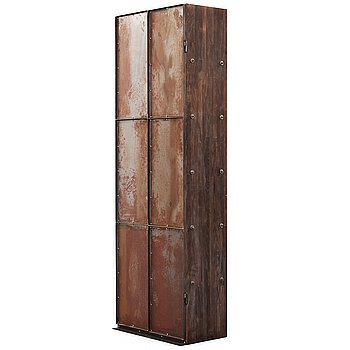 104. Jonas Bohlin, A Jonas Bohlin stained oak and patinated steel cabinet 'Slottsbacken', Källemo, Sweden circa 1987.