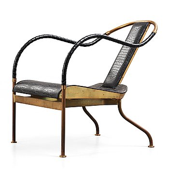 109. Mats Theselius, A Mats Theselius 'el Rey' easy chair by Källemo Sweden post 1999.
