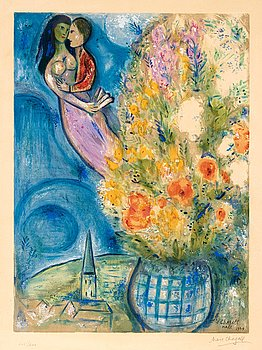 "379. MARC CHAGALL, ""Les Coquelicots""."
