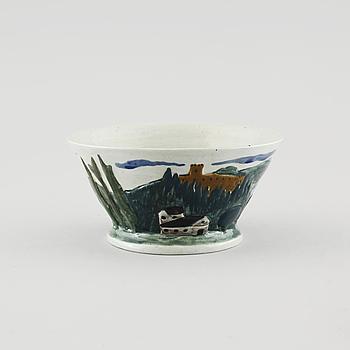 GERDA THESLEFF, skål, keramik, signerad GT.