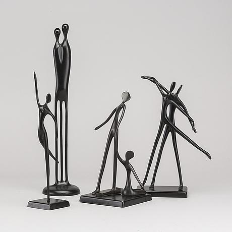 Skulpturer, 4 st, metall, bl.a design bodrul khalique.