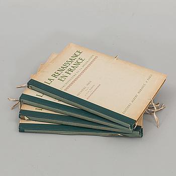 "LA RENAISSANCE EN FRANCE..."" 4 VOL. Utgiven av Albert Morancé . Paris 1910."