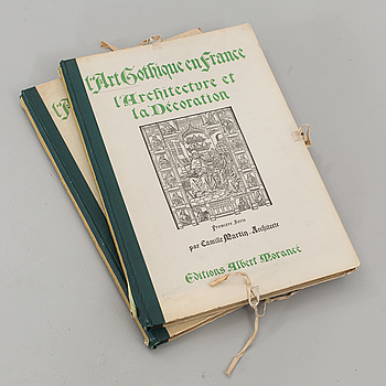 L'ART GOTHIQUE EN FRANCE... 2 Vol,Camille Enlart. Utgiven av Albert Morancé,1913-1925.