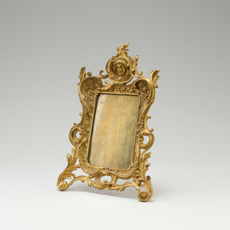 Victorian Bronze Rococo Style photopictureportrait Frame c.1900