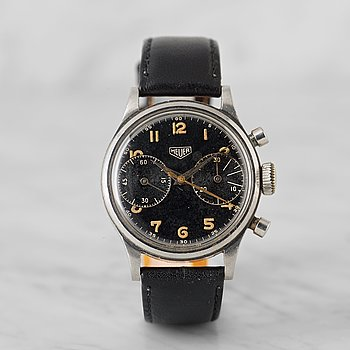 4. HEUER, kronograf, armbandsur, 35 mm,