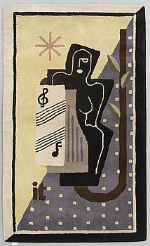 MATTA, tuftad, ca 193 x 114,5 cm, signerad it (tillverkad efter Ingegerd Torhamns design).