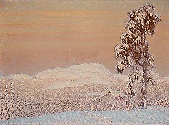 300. Gustaf Fjaestad, Winter landscape.