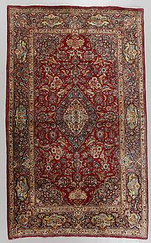 MATTA, silke, Keshan, semiantik/antik, 208 x 133 cm.