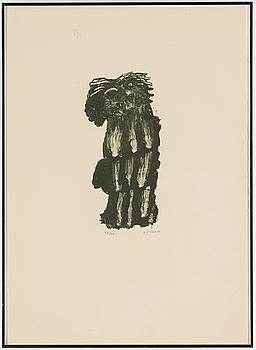 HENRI MICHAUX, litografi, signerad H MICHAUX och numrerad 39/40 med blyerts.