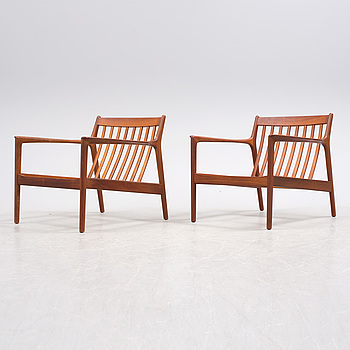 "FOLKE OHLSSON, A pair of easy chairs ""USA 75"" by Folke Ohlsson, Dux."
