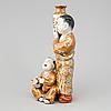A japanese  satsuma porcelain figure, meiji period (1868-1912).