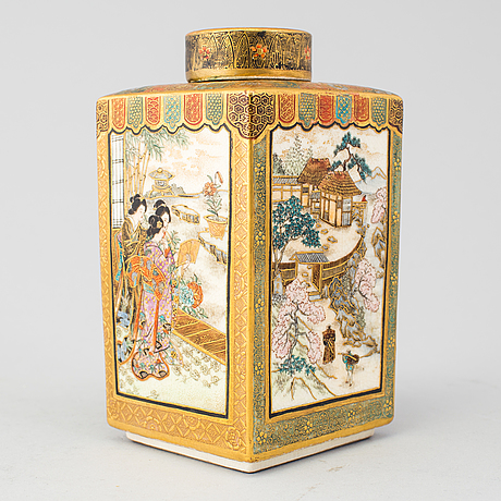 A Japanese Satsuma Vase With Cover Meiji Period 1868 1912