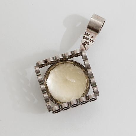 A citrine pendant by cecilia johansson, göteborg, 1980