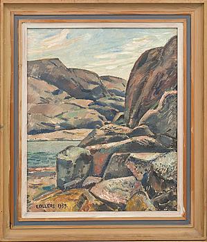 EDVIN OLLERS, olja på pannå, signerad och daterad 1939.
