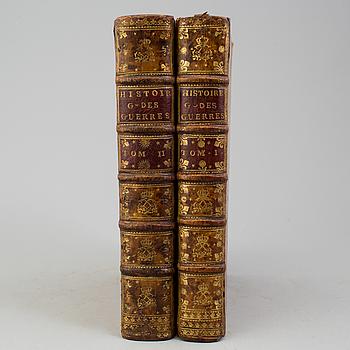 """BOK, Philippe-Auguste de Sainte-Foy d'Arcq: Histoire generale des guerres"""",1-2, Paris 1761."""