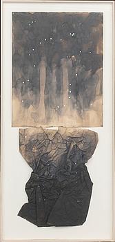 SUSAN WEIL, collage, signerad och daterad a tergo 1978.