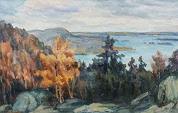 ESA LAAKSO, olja på duk, signerad och daterad Koli 1925.