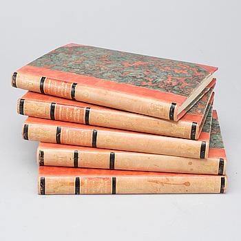 """SVEN HEDIN, """"MITT LIV SOM UPPTÄCKTSRESANDE"""" 5 vol. Stockholm, 1930."""