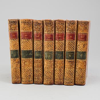 ANNE de MIREMONT: Traité de l'education des femmes., et cours complet d'instruction. 1-7. Paris 1779-1789.
