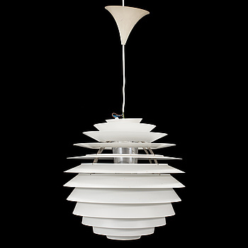"POUL HENNINGSEN, taklampa, ""PH Globe / Louvre"", för Louis Poulsen, Danmark."