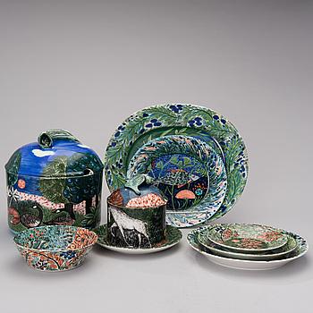 """DORRIT VON FIEANDT, SERVIS, 38 DELAR, keramik, """"Hubertus"""", Pro Arte 1993-1997, Arabia Finland."""