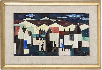 ÅKE WILHELM ANDERSSON, blandteknik, signerad ÅWA och daterad 1953 med blyerts.