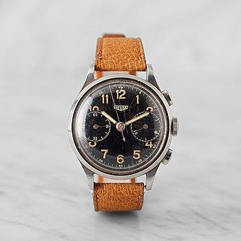 2. HEUER, kronograf, armbandsur, 36 mm,
