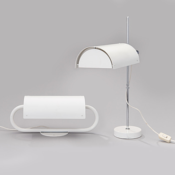 BEN AF SCHULTEN, BEN AF SCHULTEN, TABLE LAMP BS712 and WALL LIGHT BS912 for Artek. Designed in 1969 and 1976.
