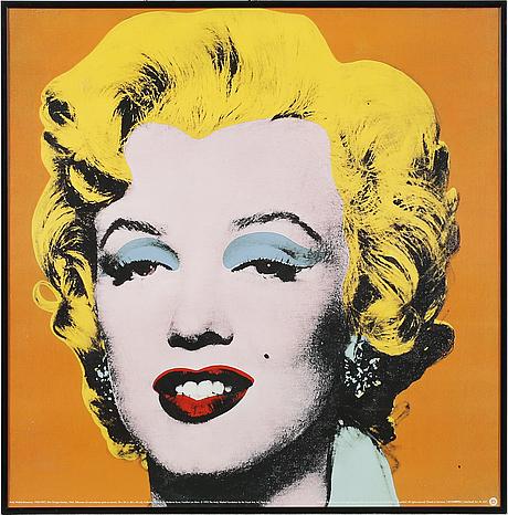 "Andy warhol, efter, offsetlitografi / poster, ""marilyn monroe"", 1995."