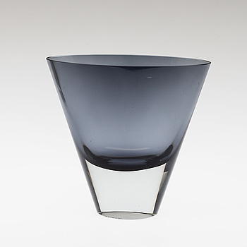 KAJ FRANCK, A glass vase, signed  K. Franck, Nuutajärvi Notsjö and dated -58.
