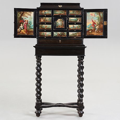 A baroque second half 17th century with paintings in the manner of frans franken ii