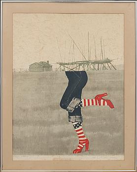YRJÖ EDELMANN färglitografier, 4 st signerade och numrerade epreuve d'artiste.