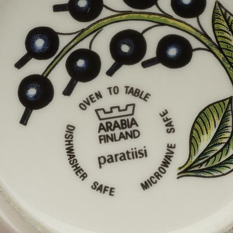 "Birger kaipiainen, servis, 24 delar, porslin, ""paratiisi"", arabia, finland."