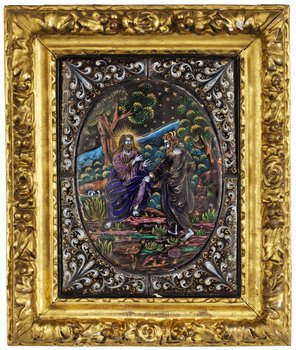 1121. An enamel on copper plaque, probably Limoges 19th century.