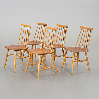 3+2 CHAIRS BY EDSBYVERKEN AND STOCKA.