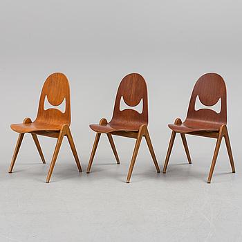 "YNGVE EKSTRÖM,stolar, 3 st, ""Knocking Down Chair"", 1960-tal."